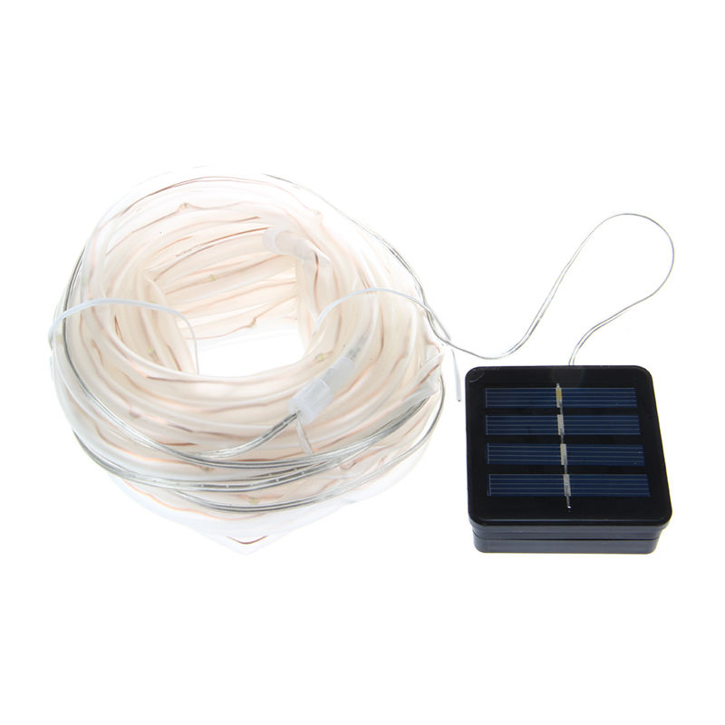 6X(Waterproof 100 LED 12M Solar Christmas Led Lighting Rope PVC TUBE String V3C8