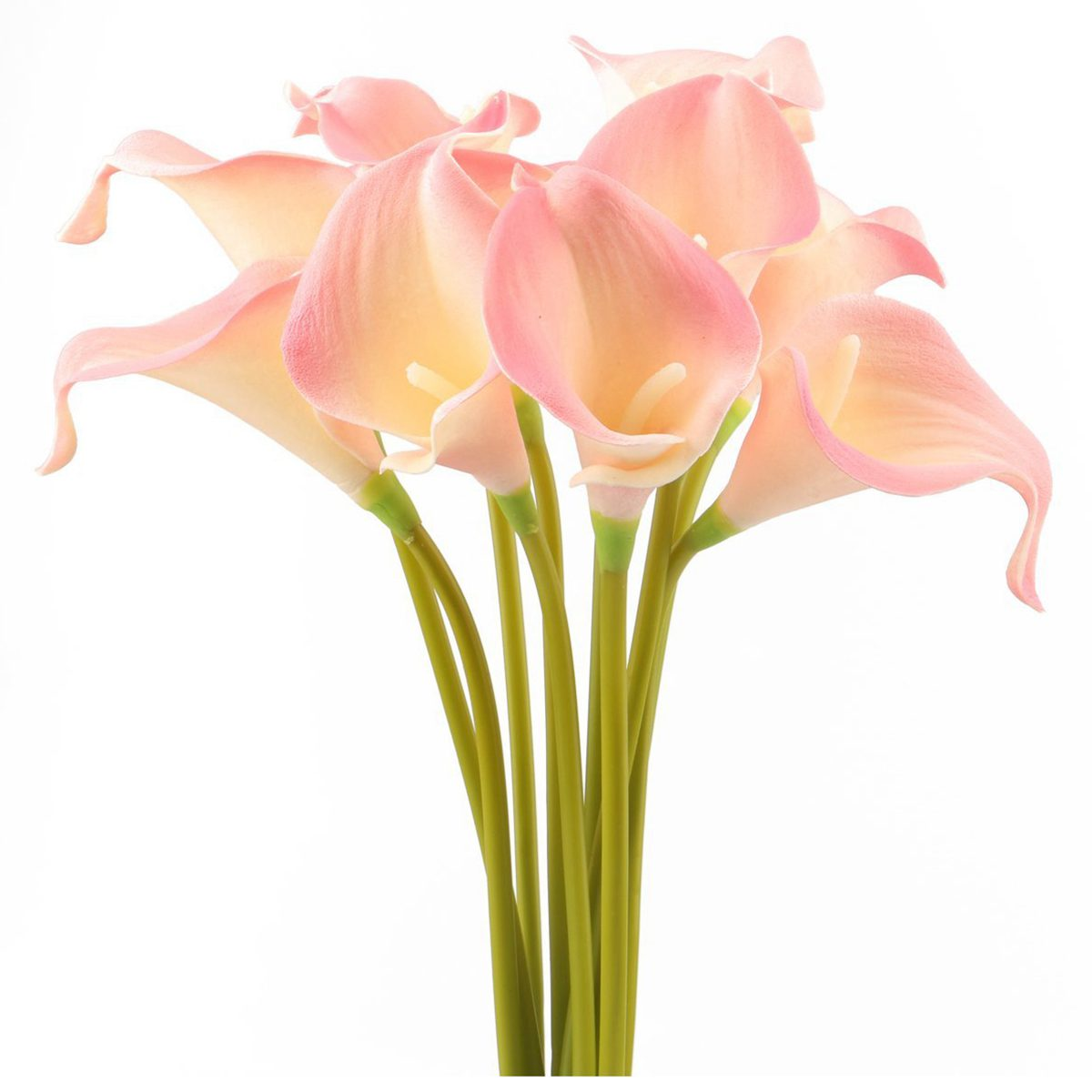 Calla lily bridal wedding bouquet head real touch flower bouquets 10 pieces x calla lily flowers note light shooting and different displays may cause the color of the item in the picture a little different from the real izmirmasajfo Image collections