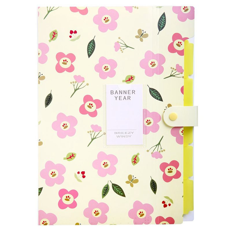 Skydue Floral Printed Accordion Document File Folder Expanding Letter Orga A9H4