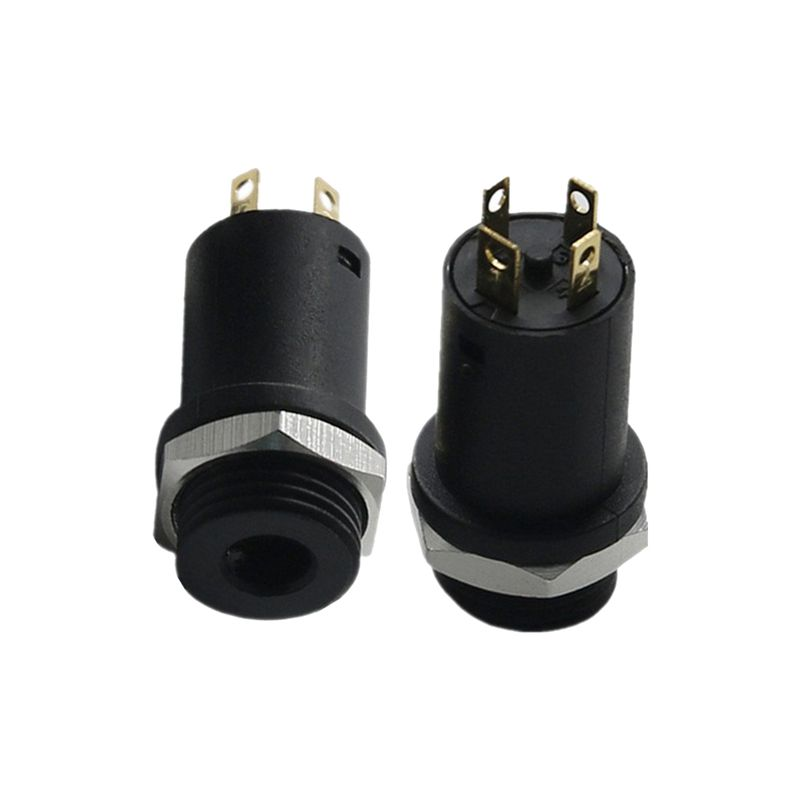 3 5mm, 4-conductor stereo panel mount jack,solder eyelet pin1 earth spring,  pin 2 microphone, pin 3 left channel, pin 4 right channel