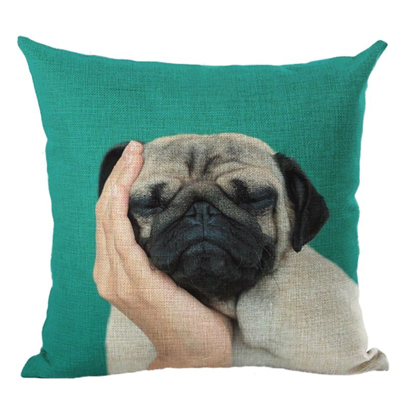 5X(Cushion Covers Creative Pet dog Printing of Throw Pillow Case Sofa Cushi X7Y5