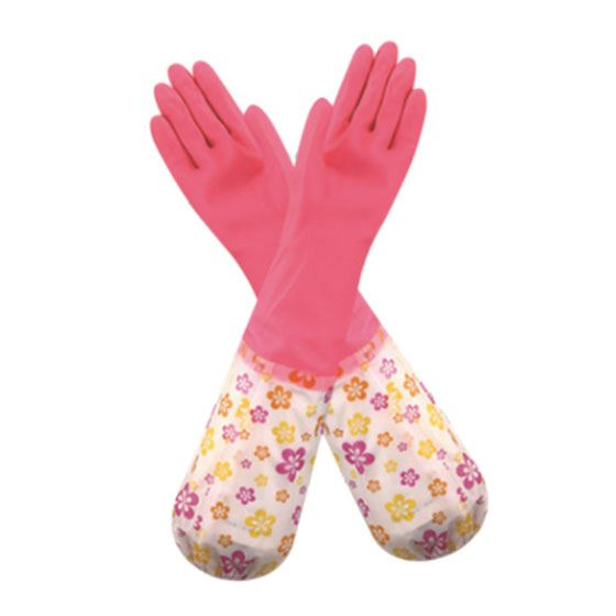 3x(long Sleeve Dishwashing Pvc Gloves Cleaning Household Pvc Gloves Keep W F3v8)