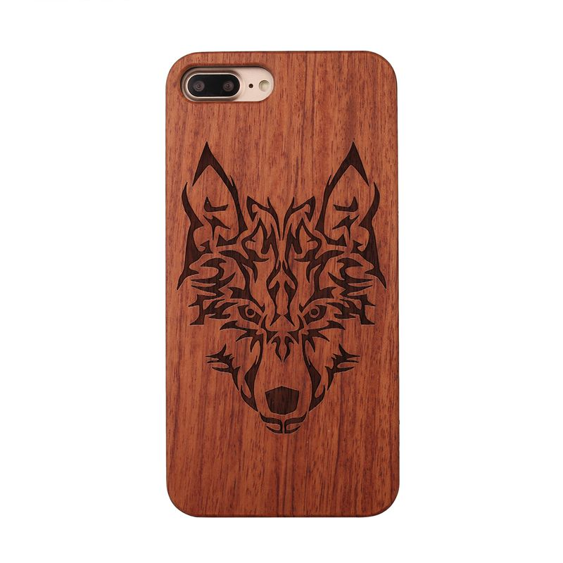 Wood Case Spuer Slim Natural Wood Back Hard Case with PC Cover for iPhone 7 D6Z6
