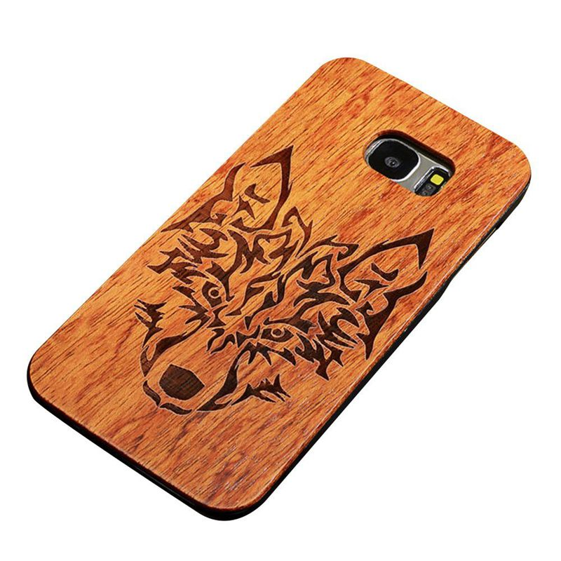 Wooden Case For Samsung Galaxy S7 5.1 inch, Unique 2 in 1 Natural Rosewood D3I2