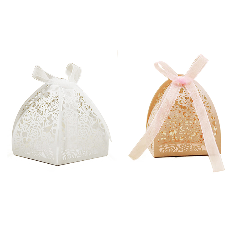 10X (mariage fournitures Rose Creux personnalité candy box Mariage Creative Can J7)
