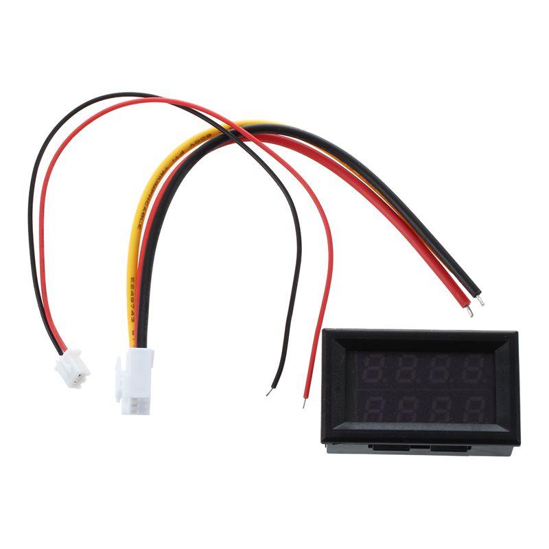 2x led digital amperemeter voltmeter 100v spannung strommesser ammetew8b4 ebay. Black Bedroom Furniture Sets. Home Design Ideas