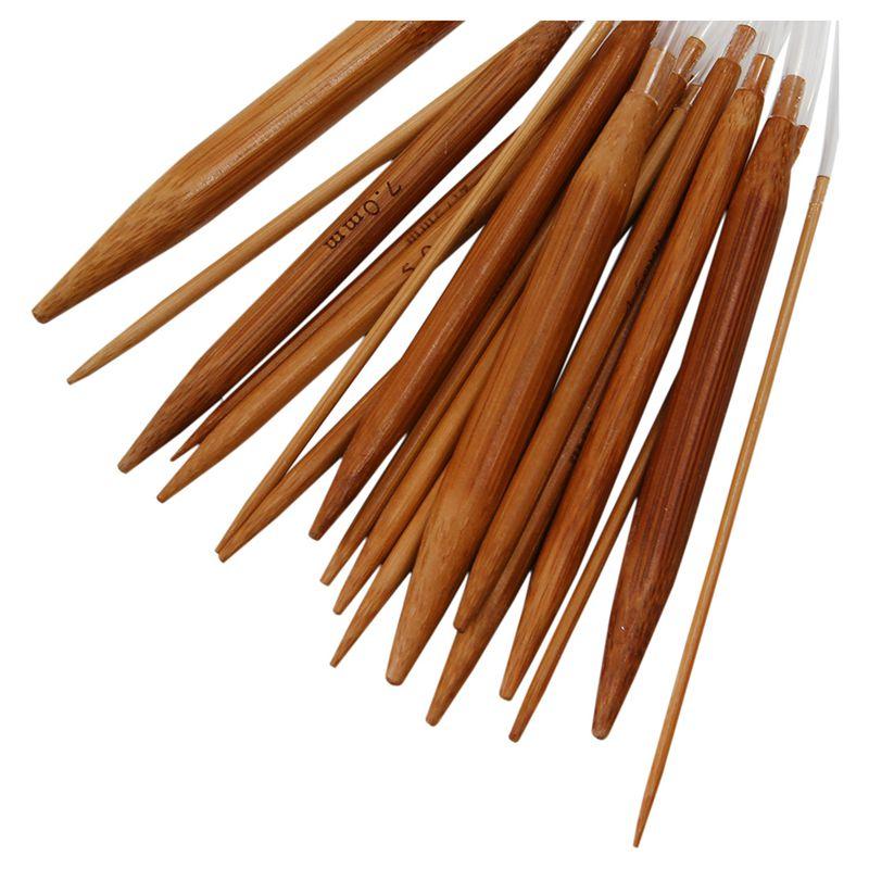 18-pares-16-pulgada-40-cm-Conjunto-de-agujas-juego-punto-bambu-carbonizado-cir