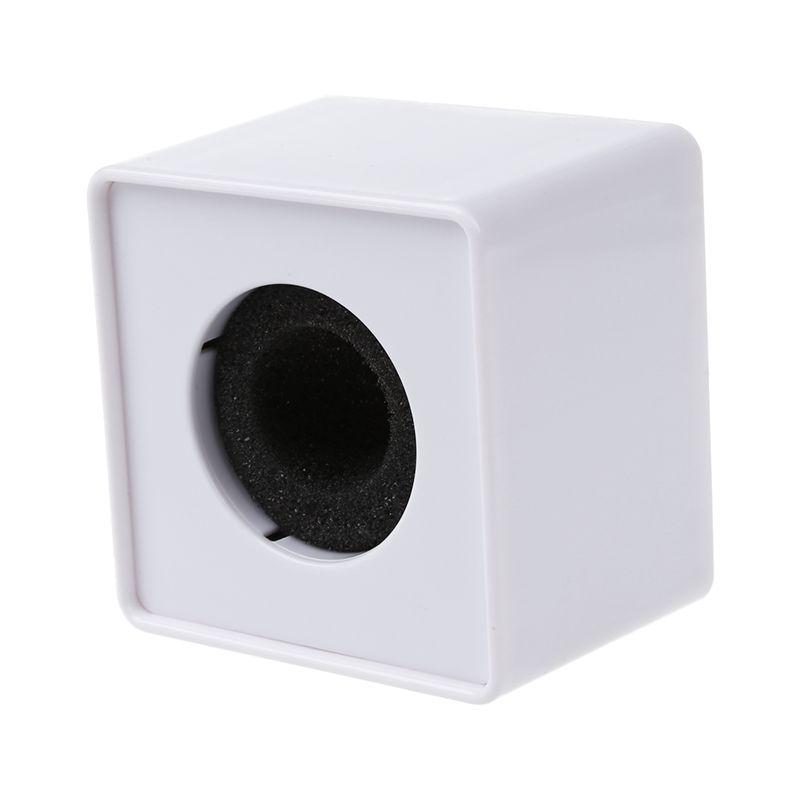 1pz-Blanco-ABS-minifono-Mini-telefono-Estacion-de-bandera-Logo-cubo-cuadrador3N1