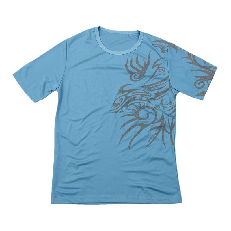Camisetas-de-moda-para-los-hombres-de-impresion-de-Tatoo-de-Dragon-O-cuello-Q6M1