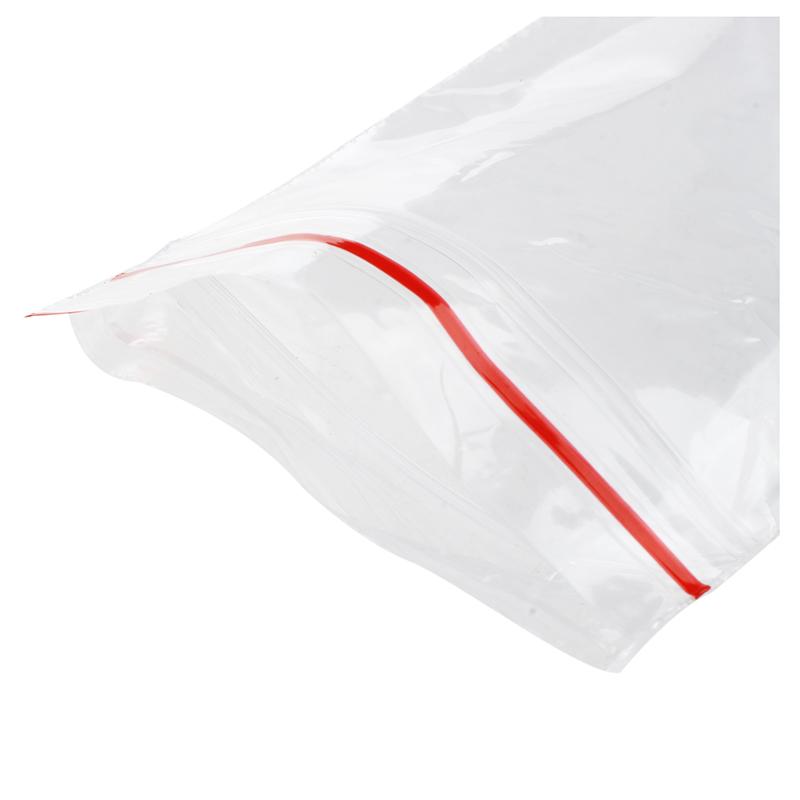 Clear Grip Seal Self Press Resealable Polythene Zip Lock Plastic Bags