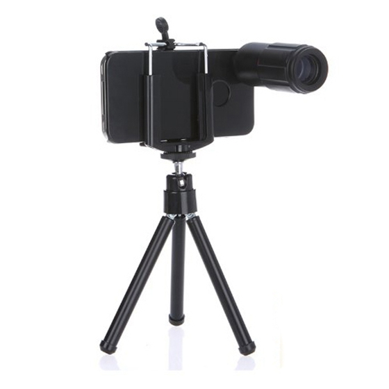 8X Telescope Magnifier Optical Camera Lens with Tripod for iPhone 4 4s Blac M6J2