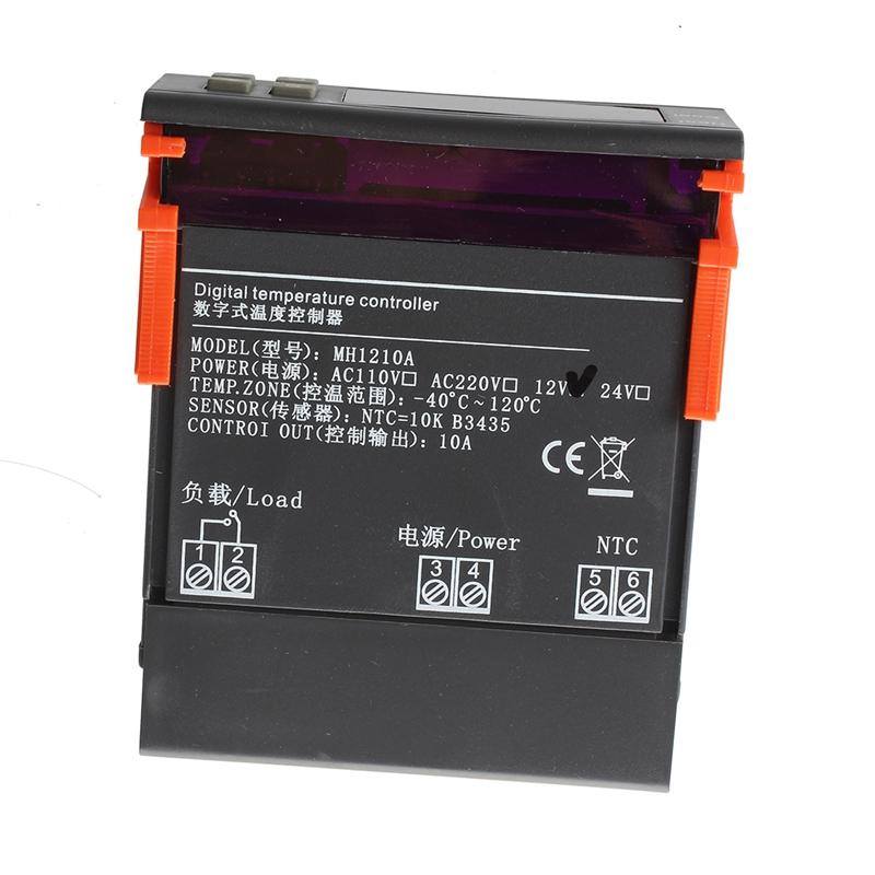 12V Digital LCD Controleur de Temperature Thermostat avec Capteur MH1210A T6J8