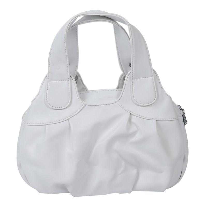 Fashion-handbag-Women-PU-leather-Bag-Tote-Bag-Handbags-Satchel-Matte-White-F3D5