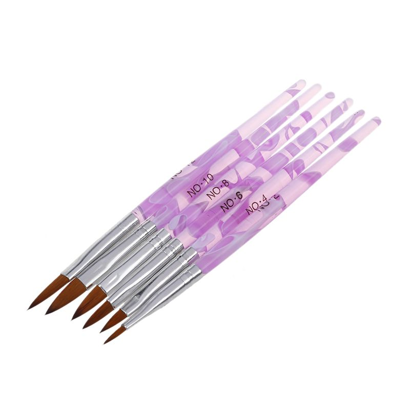 Cepillo-de-arte-una-acrilico-6-diferentes-tamanos-NO-2-4-6-8-10-12-Blancor5S2