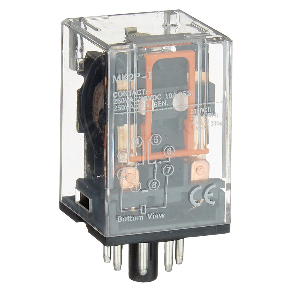 Ac 220v 230v Coil Voltage Pcb Power Relay 8 Pins Dpdt 2no 2nc Mk2p 1 Product Name Electromagnetic Model No Contact Capacity 10a 250vac 28vdc Res250vac 7a Gen Type