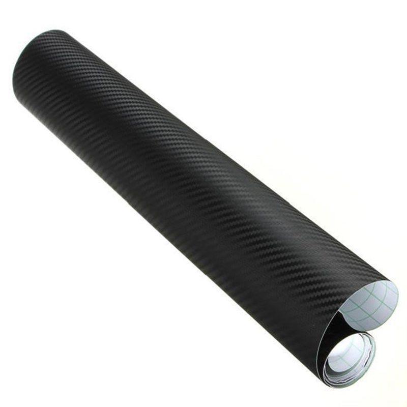 film en fibre de carbone 3d vinyle noir 50 152cm pour voiture e4s7 ebay. Black Bedroom Furniture Sets. Home Design Ideas