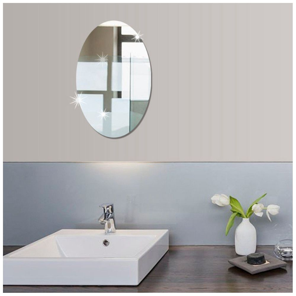 This mirror sticker can be fixed in any smooth surface such as ceramic wall glass metal and ect it has great characteristics of mildew