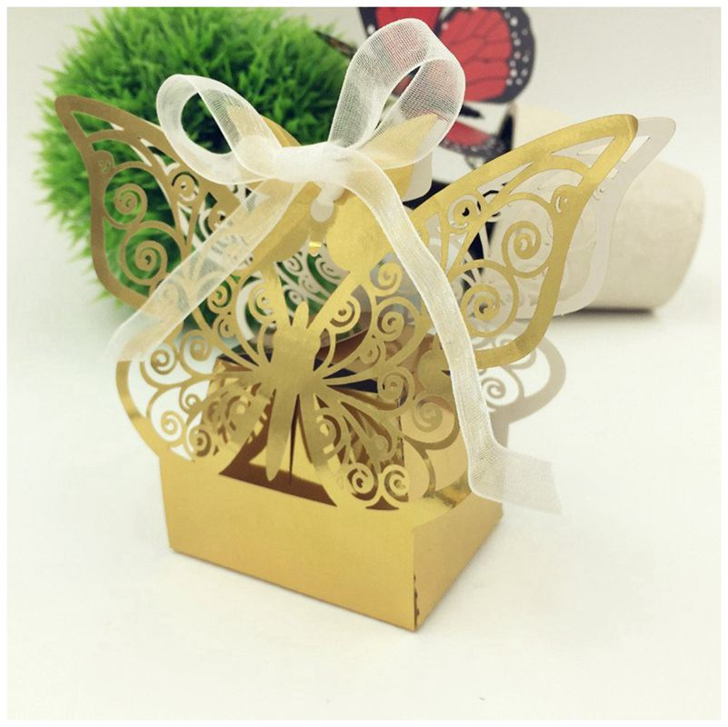 Wedding Favors 50pcs Butterfly Wedding Favour Favor Sweet Cake Gift Candy Boxes Table Decor Home Garden Vibranthns Lk
