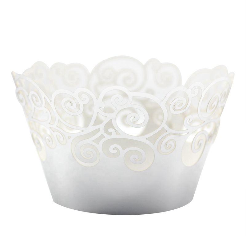 Cupcake-Envoltorios-60-Filigrana-Artistica-Torta-Para-Hornear-Copas-de-Pape-C4U6 miniatura 7