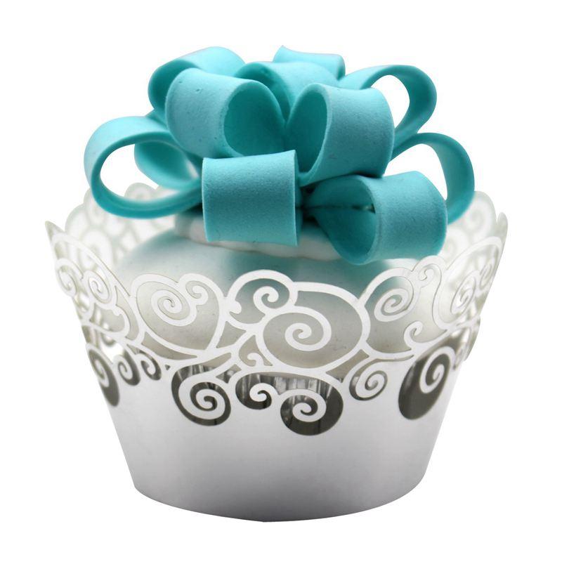Cupcake-Envoltorios-60-Filigrana-Artistica-Torta-Para-Hornear-Copas-de-Pape-C4U6 miniatura 9
