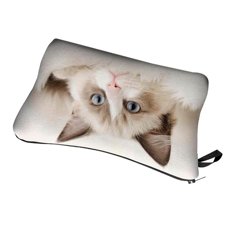 5X-Cute-pattern-Pouch-Travel-Case-Cosmetic-Makeup-Bag-Beige-Cat-E2U9