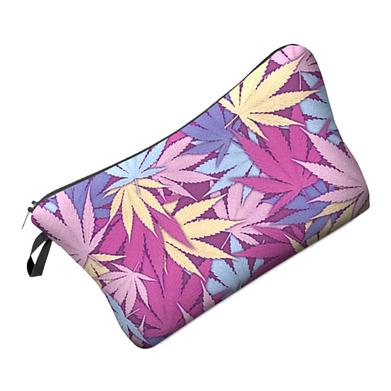 5X-Cute-pattern-Pouch-Travel-Case-Cosmetic-Makeup-Bag-Maple-Leaf-Z1P8