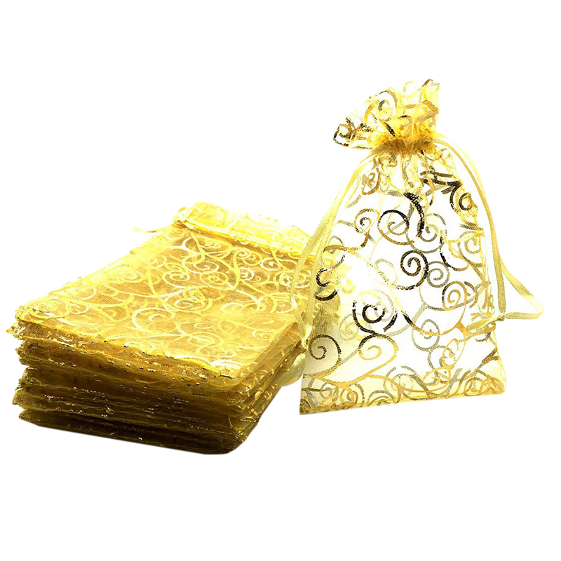 100pcs 4x6 Inches Drawstrings Organza Gift Candy Bags Wedding Favors