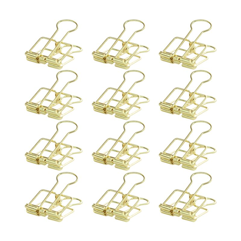 Creative Wire Binder Clips 12 Pcs Reusable Paper Clips Small ...