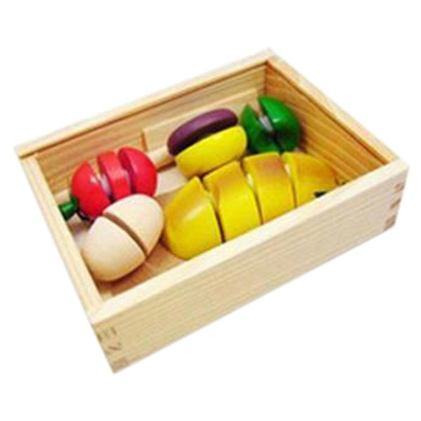 5X(Girls play Toy kitchen Toys Fruit and Vegetable shape Wooden Toys Wooden R1R0