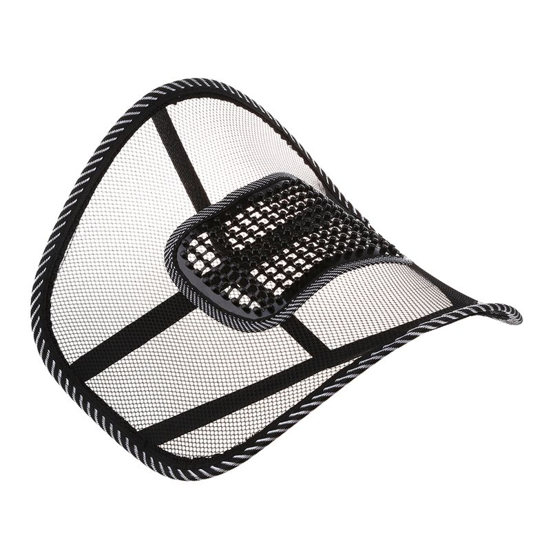 Mesh Back Lumbar Support Massage Beads For Car Seat Chair