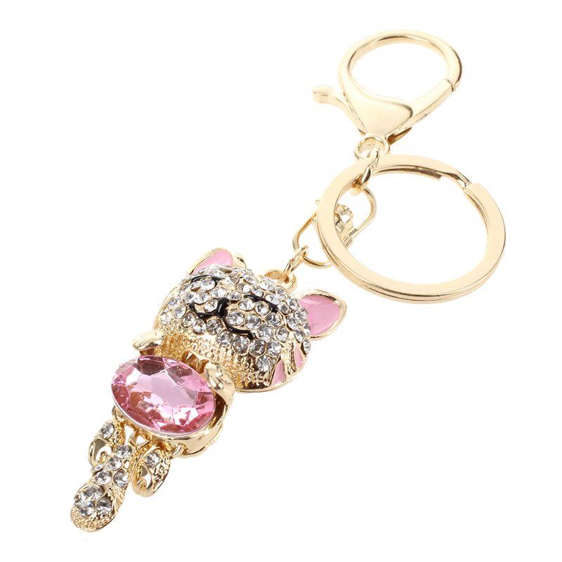 Rhinestone-Crystal-Keyring-Charm-Pendant-Purse-Bag-Key-Ring-Chain-Keychain-H1Q1 thumbnail 3