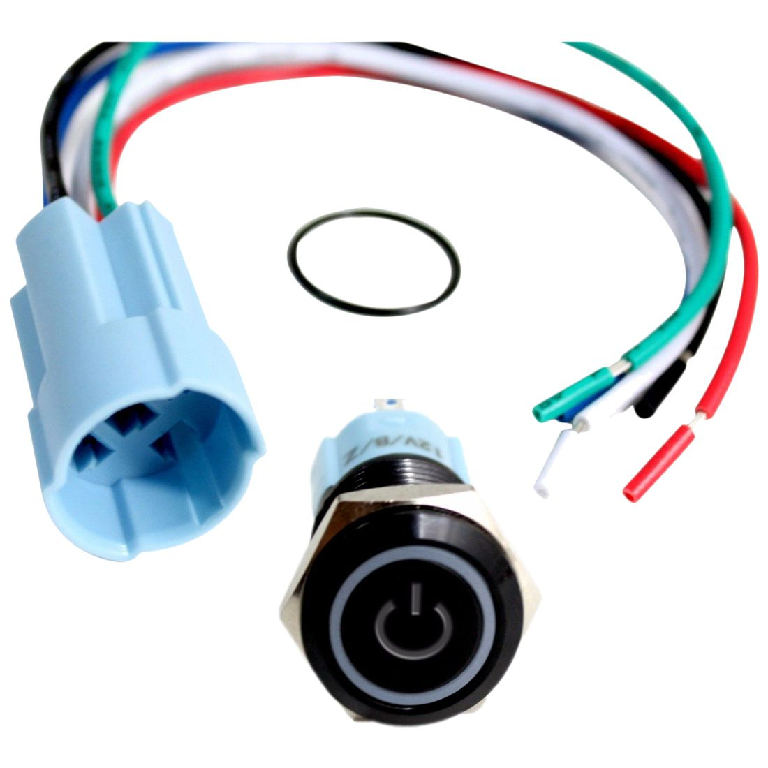 16Mm Blue On Off Led 12V Latching Push Button Power Switch ...