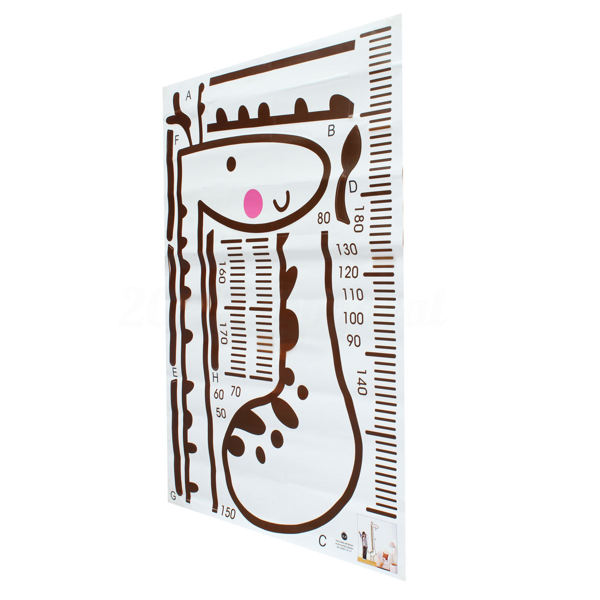 Fun giraffe height chart wall sticker for kids growth measure home create a permanent record of your childs growth by plotting their height as they grow on our colourful growth chart diy facilitate easier richer color geenschuldenfo Image collections