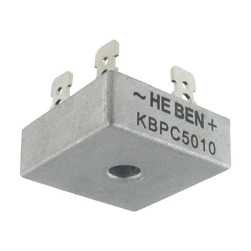 4X 50A 1000V Metal Case Single Phases Diode Bridge Rectifier KBPC5010 J8M4 1X