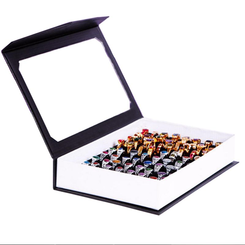 Indexbild 5 - 72 Ring Schmuck Display Aufbewahrungsbox Tray Showcase Organizer Ohrringhal R8V5