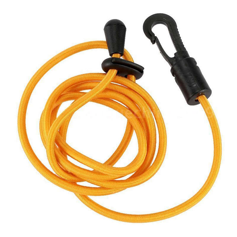 Kayak-Boat-Canoe-Paddle-Leash-Fishing-Rod-Coil-Tether-Bungee-Cord-Green-Y1T9