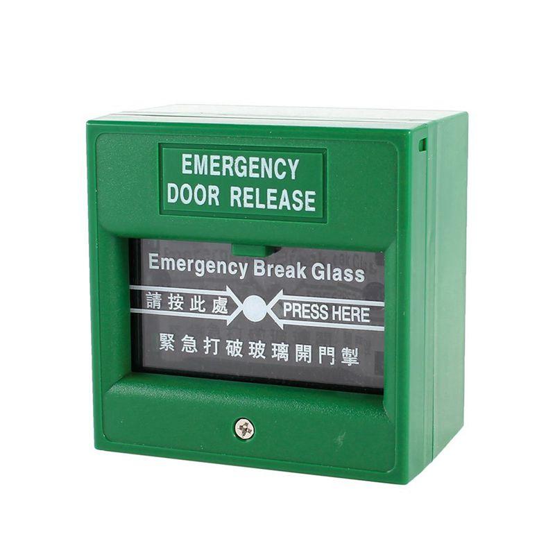 5xgreen Security Alarm Fire Break Glass Button Emergency Door