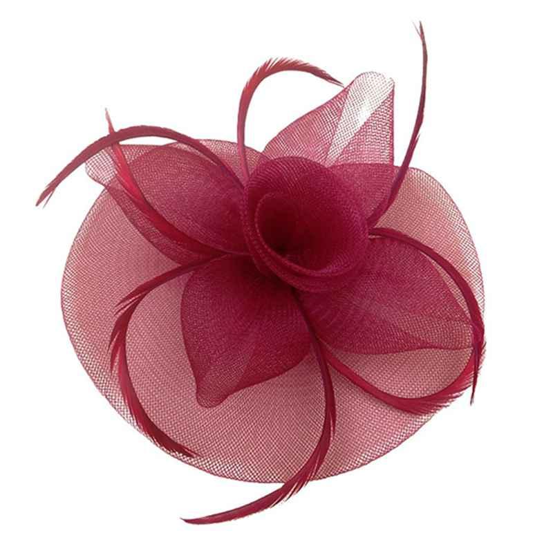 miniatura 2 - Da donna Cerimonia nuziale del cappello della clip di capelli della rete de G5Y1