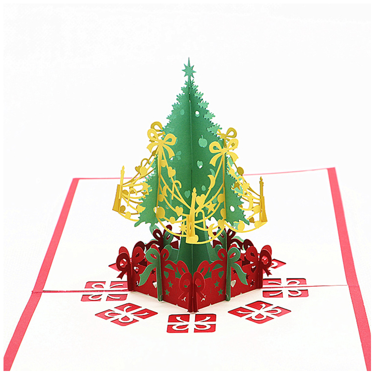 2 Pack Christmas Pop up Cards,Christmas Tree Merry Christmas Card ...