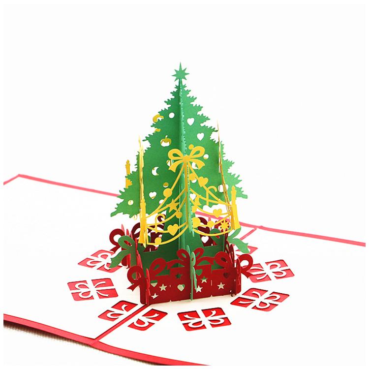 2 Pack Christmas Pop Up Cards Christmas Tree Merry Christmas Card