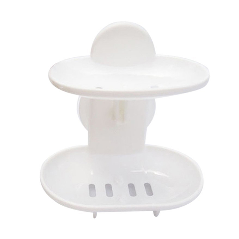 Attrayant Details About Double Soap Dish Strong Suction Soap Holder Cup Tray For  Shower Bathroom (W J9K4