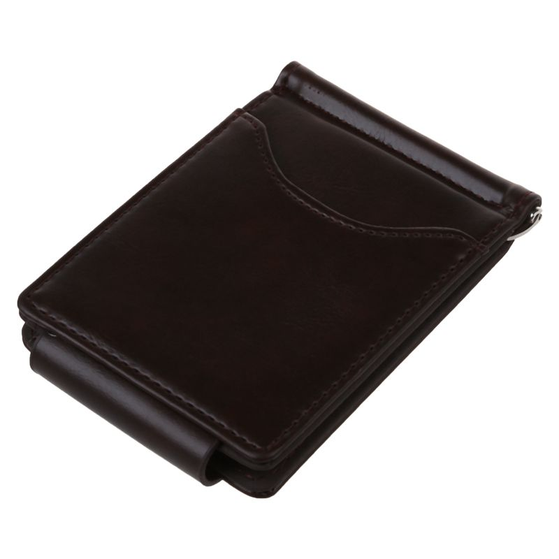 Ultra-thin-Slim-Men-Leather-Money-Clip-Wallets-ID-Credit-Card-Holder-Coin-P-K8D4 thumbnail 3