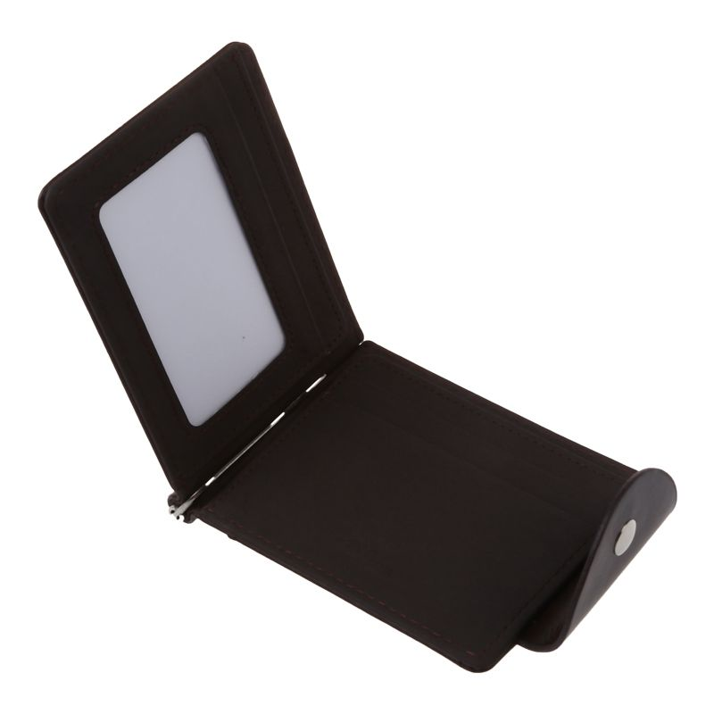 Ultra-thin-Slim-Men-Leather-Money-Clip-Wallets-ID-Credit-Card-Holder-Coin-P-K8D4 thumbnail 4