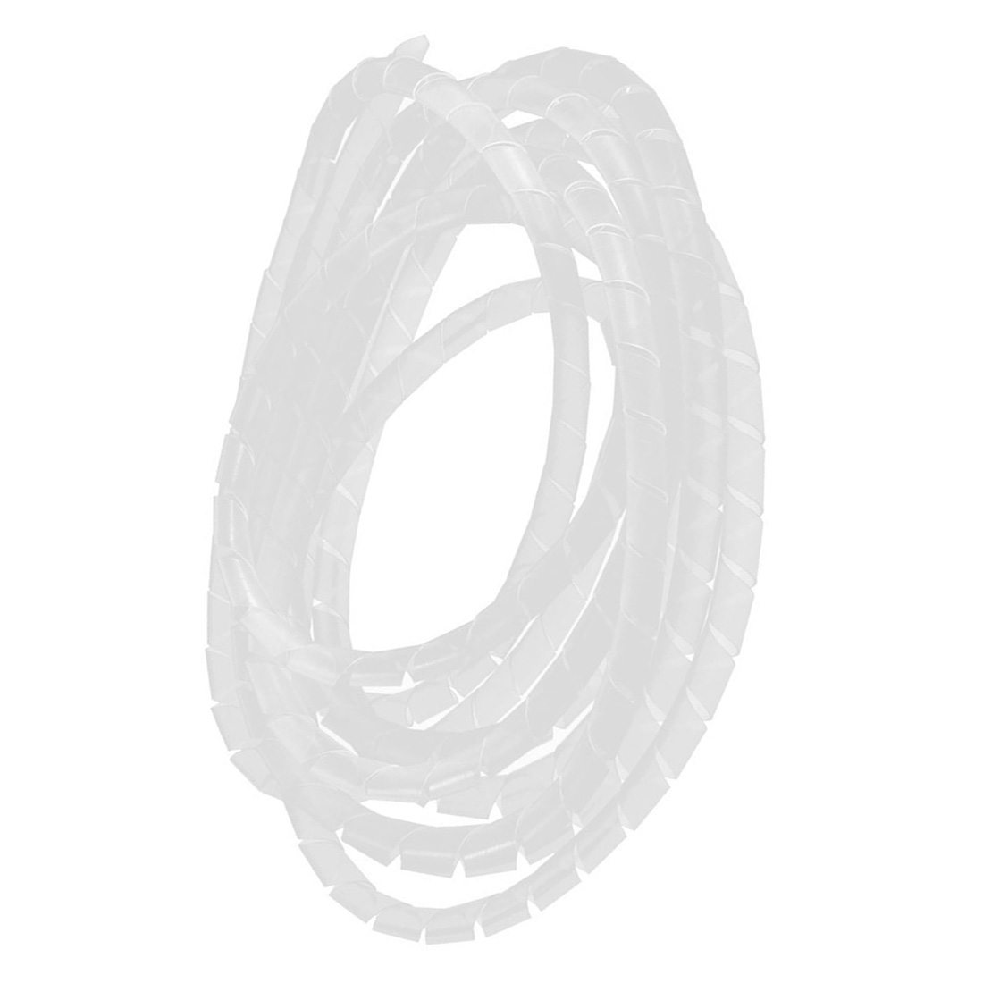2pcs 10ft Long 8mm x 7mm White Flexible Wire Spiral Wrap Cable ...