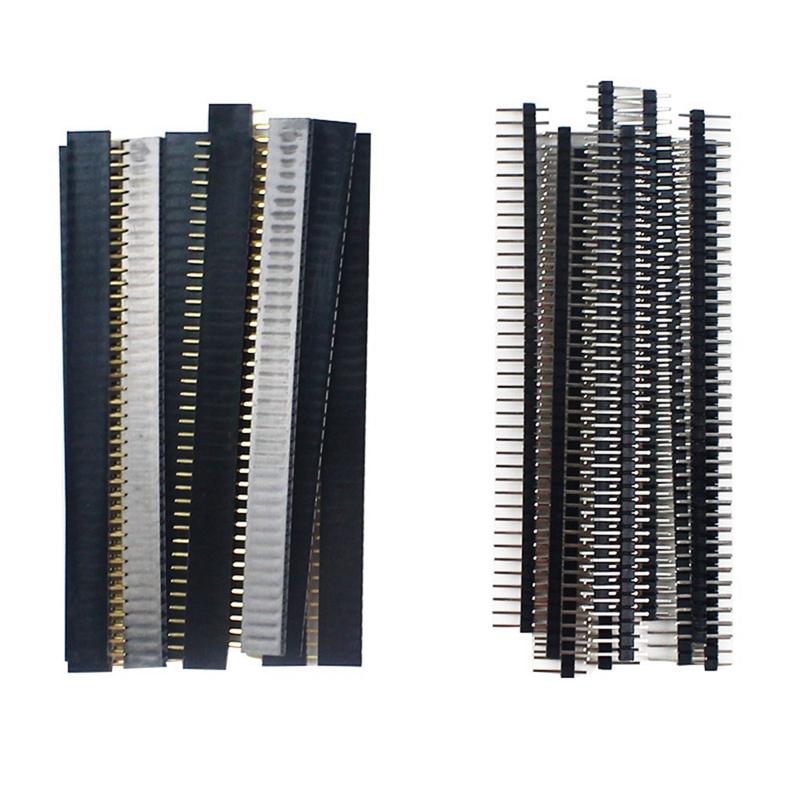 30 Stk 40 Pin 2,54 Mm Stift-und Buchsenleisten Steckverbinder für Arduino P O5T8