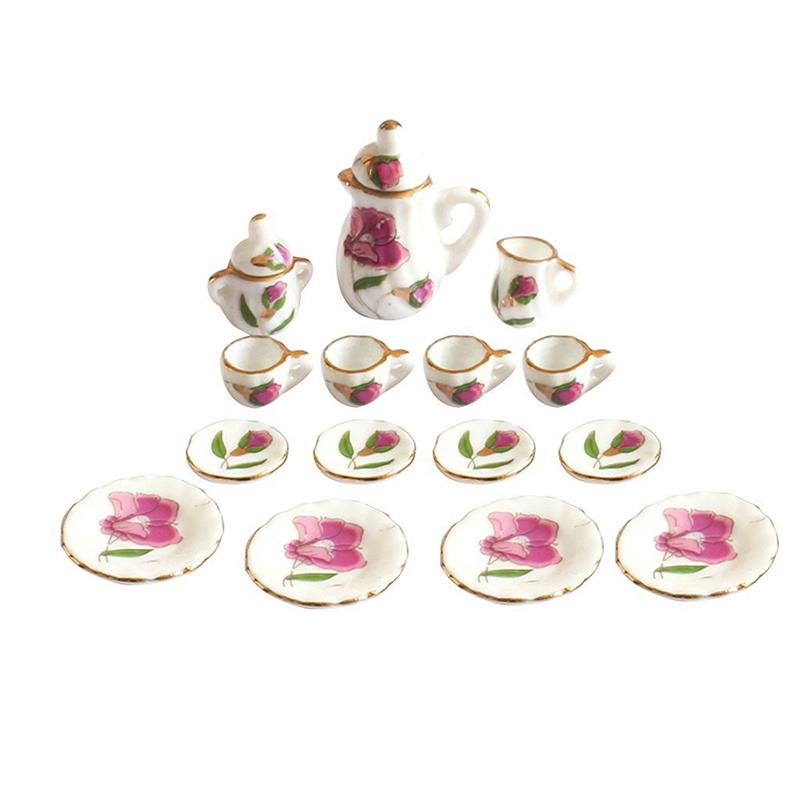 9F4 8pcs 1//6 Dollhouse Miniature Dining Ware Porcelain Dish//Cup//Plate Tea Set--