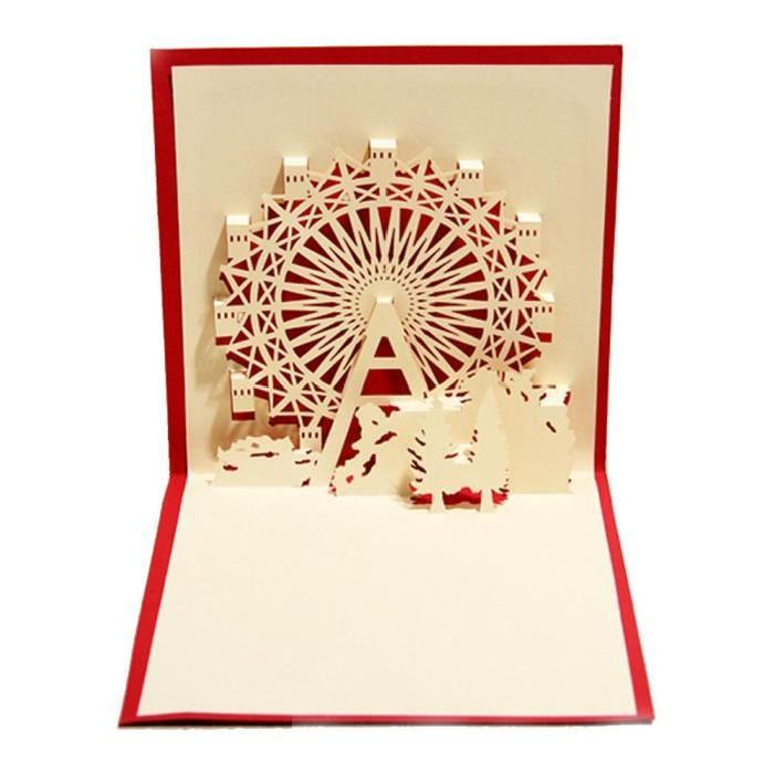 3d Cards Pop Up Valentine Happy Birthday Greeting Gift Card