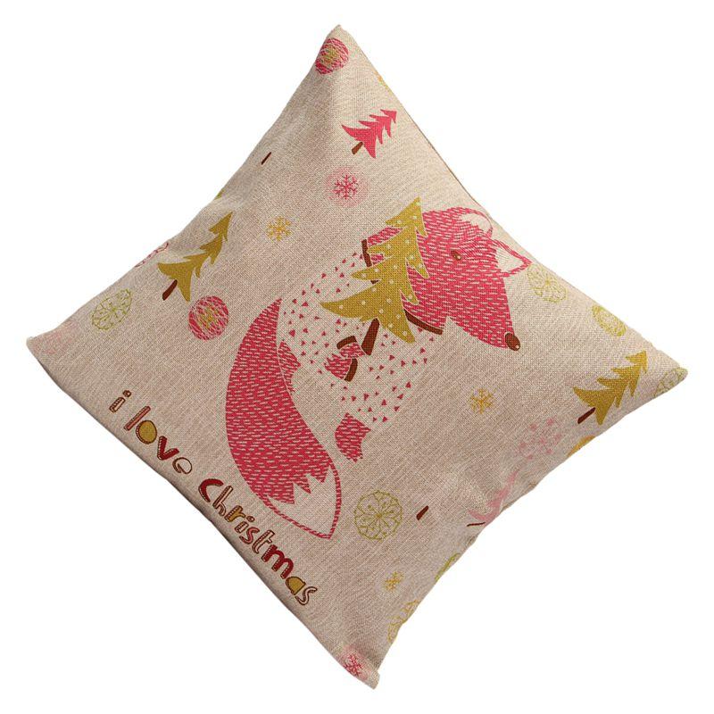 Christmas-Xmas-Santa-Claus-Cushion-Cover-Pillow-Case-Square-Car-Home-Decor-E5U5