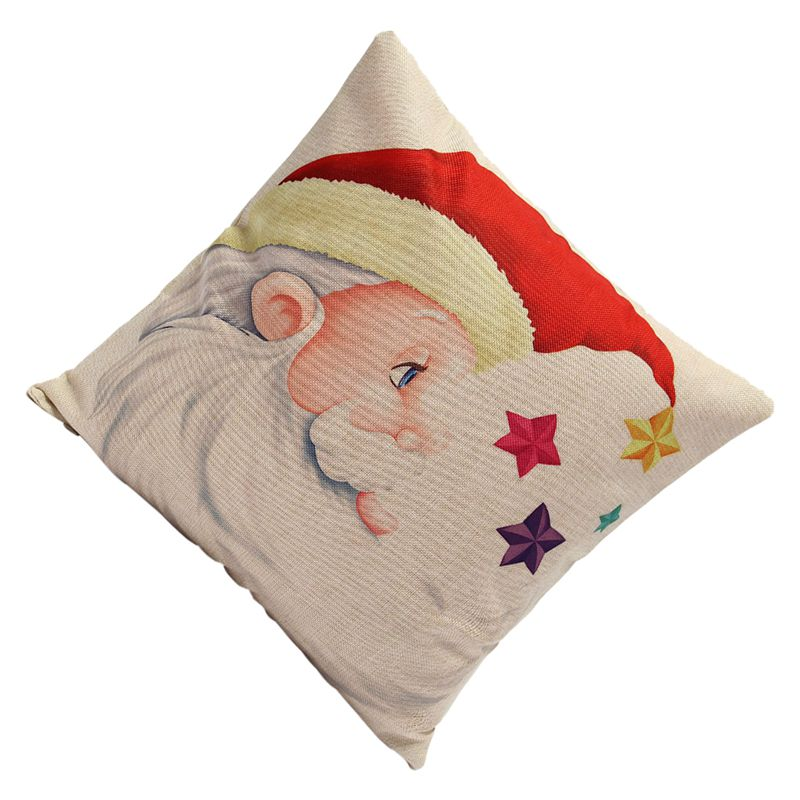 Christmas-Xmas-Santa-Claus-Cushion-Cover-Pillow-Case-Square-Car-Home-Decor-P7B8