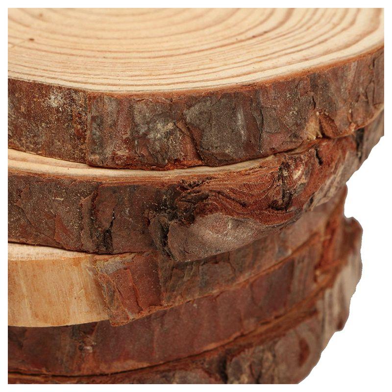 10PCS Natural Tree Round Wood Log Slice For Wedding ...
